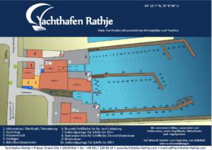 Hafenplan Yachthafen Rathje in Kiel