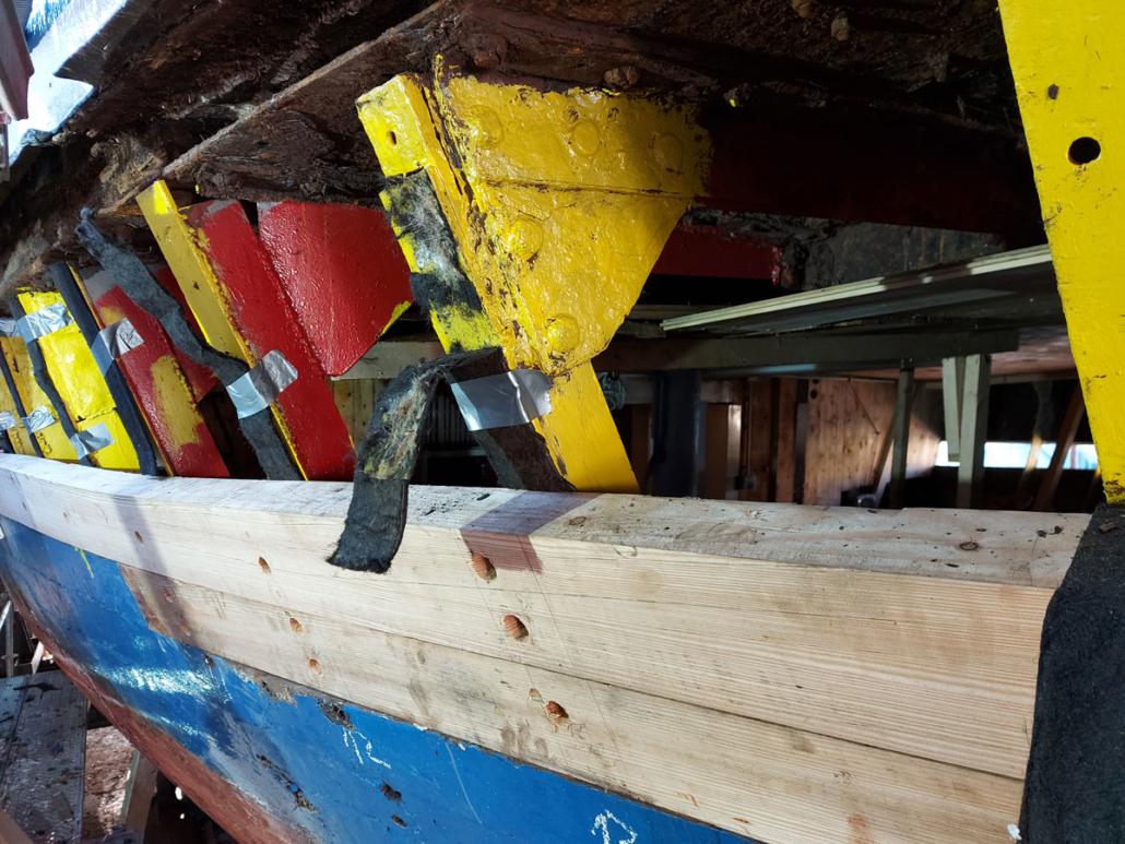 Beplankung Schiff, Kutter, Traditionsschiff