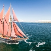 """Traditionsschiff """"Zuversicht"""" in der Yachtwerft Rahtje in Kiel"""