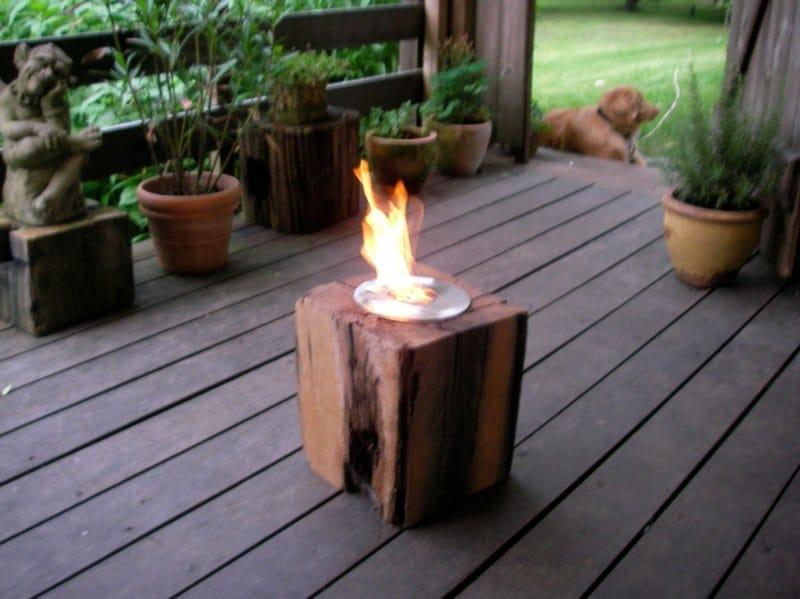 Woodstation Feuerklotz wiederverwendbar